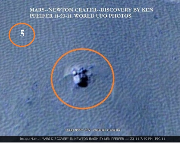 ANOTHER DISCOVERY ON MARS BY KEN PFEIFER | WORLD UFO ...
