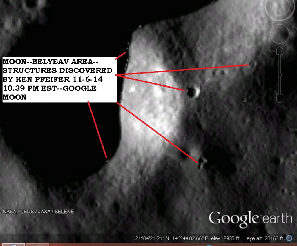 MOON--BELYAEV--OBJECTS DISCOVERY BY KEN PFEIFER 11-6-14 10.39 PM EST