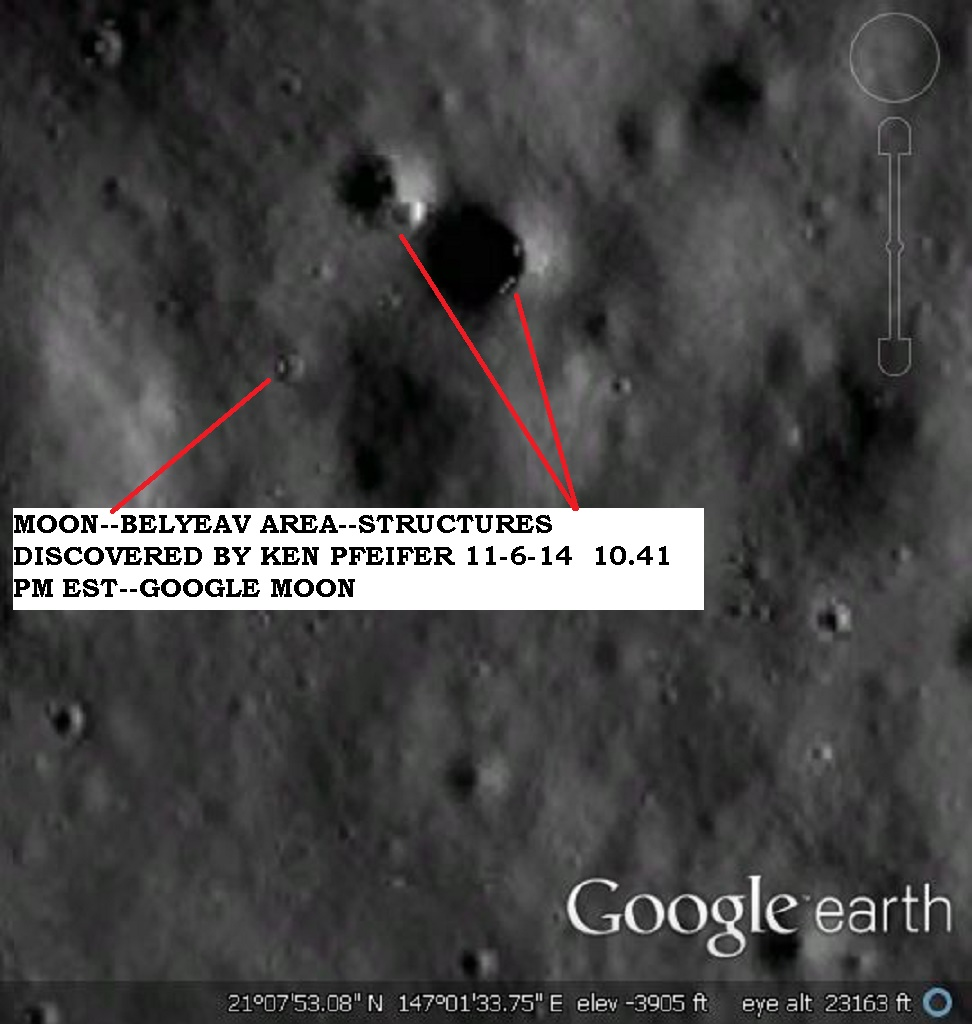 MOON--BELYEAV--OBJECTS DISCOVERY BY KEN PFEIFER 11-6-14 10.41 PM EST