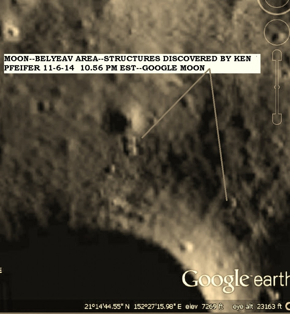 MOON--BELYEAV--OBJECTS DISCOVERY BY KEN PFEIFER 11-6-14 10.56 PM EST