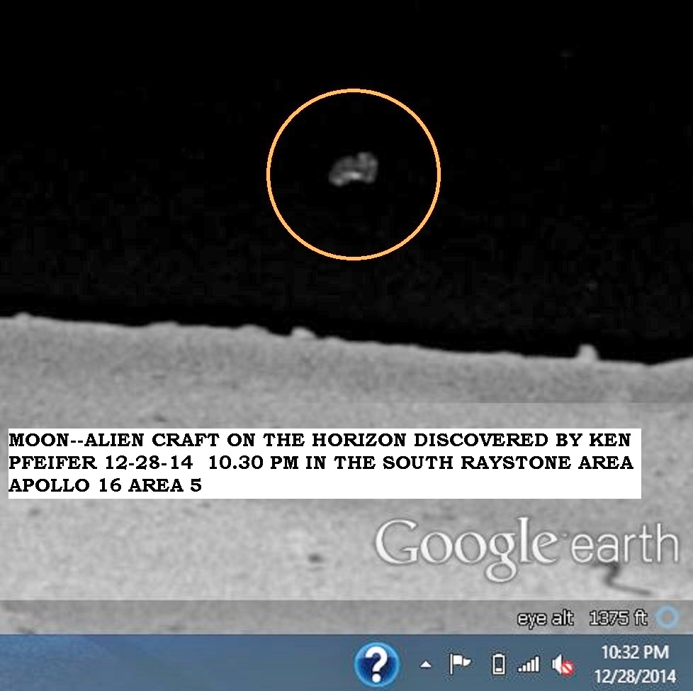 MOON--UFO ON THE HORIZON DISCOVERED BY KEN PFEIFER 12-28-14 10.30 PM EST--PIC 2