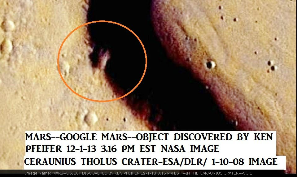 MARS--WEIRD CRAFT DISCOVERED BY KEN PFEIFER 12-1-13