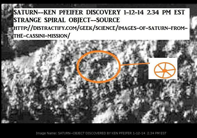 SATURN--WAGON WHEEL OBJECT DISCOVERED BY KEN PFEIFER 1-12-14