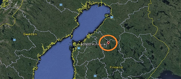 KINNULA FINLAND MAP
