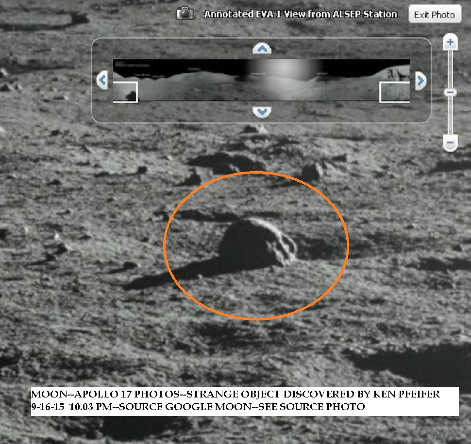 3-MOON--APOLLO 17 --STRANGE OBJECT DISCOVERED BY KEN PFEIFER 9-16-15  10.03 PM EST