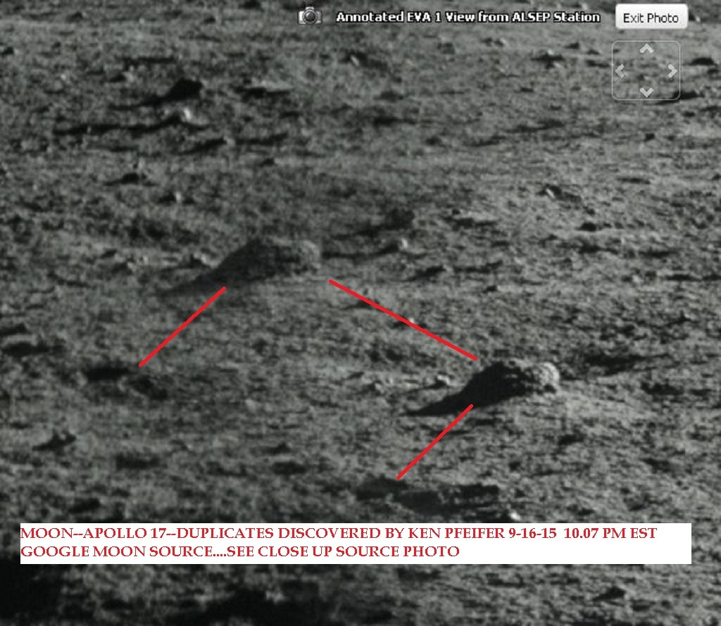 MOON--APOLLO 17 --DUPLICATES DISCOVERED BY KEN PFEIFER 9-16-15  10.07 PM EST