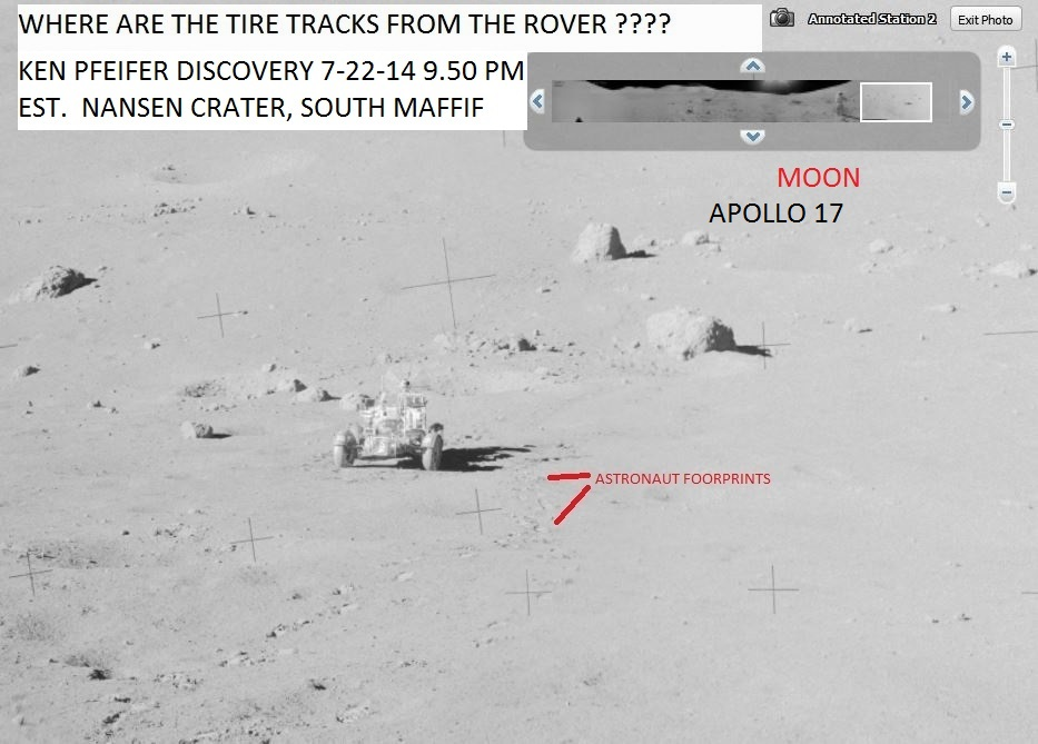 MOON APOLLO 17--WHERE ARE THE TIRE TRACKS--KEN PFEIFER  7-22-14  5.33 PM EST