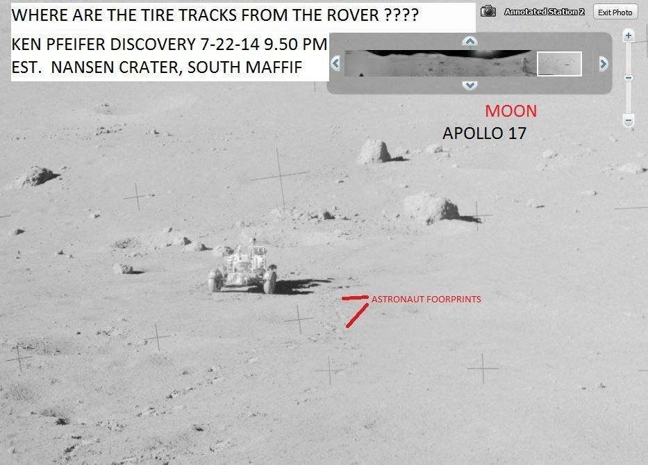 MOON APOLLO 17--WHERE ARE THE TIRE TRACKS--KEN PFEIFER  7-22-14  5.33 PM EST