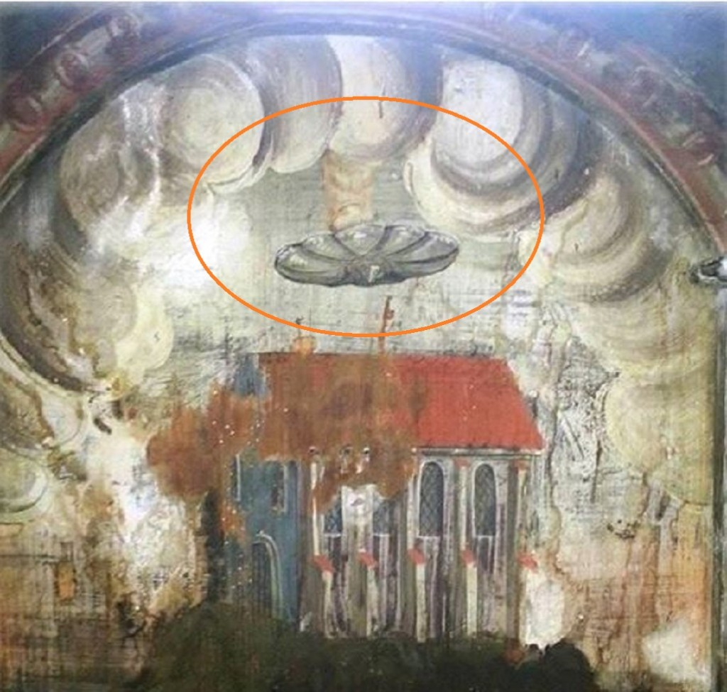 STRANGE--400 YEAR OLD PAINTING DISCOVERED IN TRANSULVANIA CHAPEL
