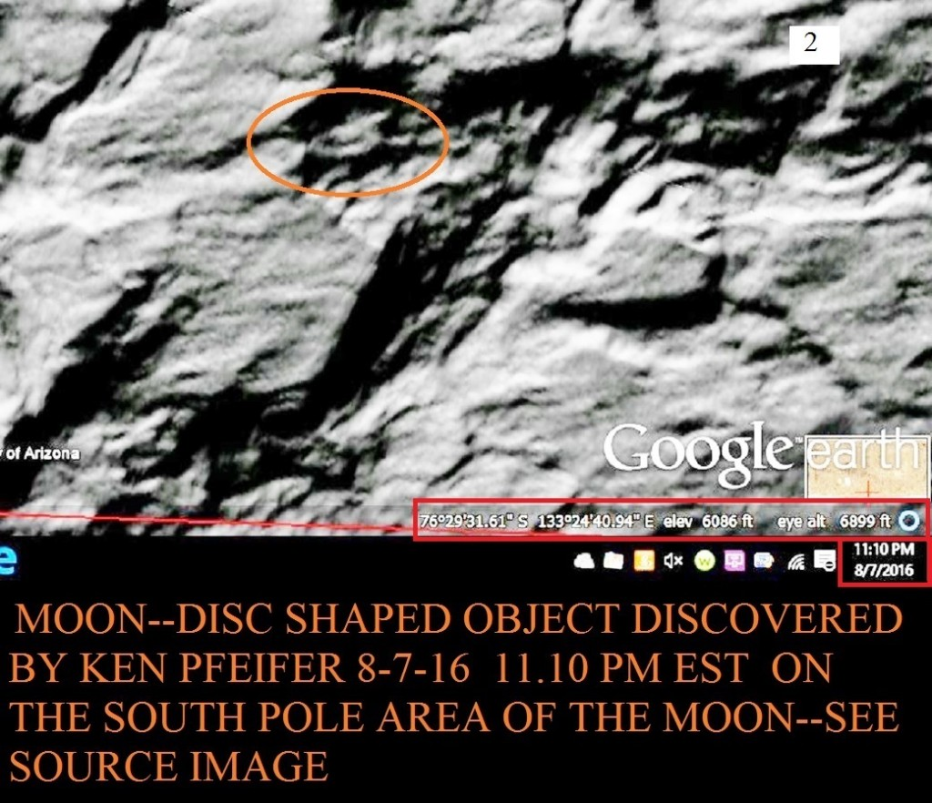 2  MOON--DISC DISCOVERY BY KEN PFEIFER 8-7-16 11.10 PM EST