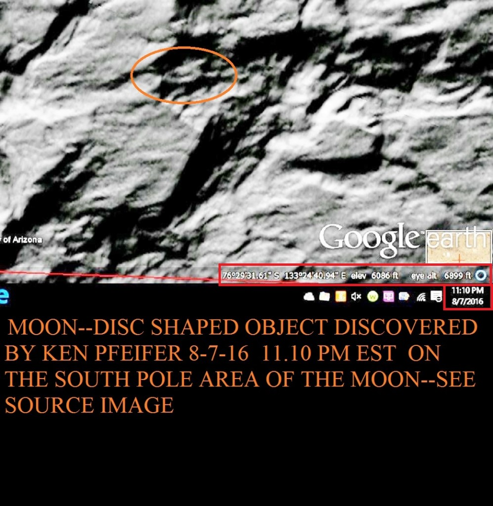 MOON--DISC DISCOVERY BY KEN PFEIFER 8-7-16 11.10 PM EST