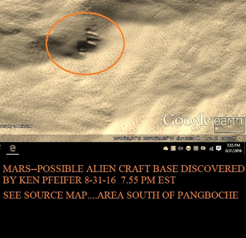 MARS--STRANGE CRAFT DISCOVERED BY KEN PFEIFER 8-31-16   7.55 PM EST.....