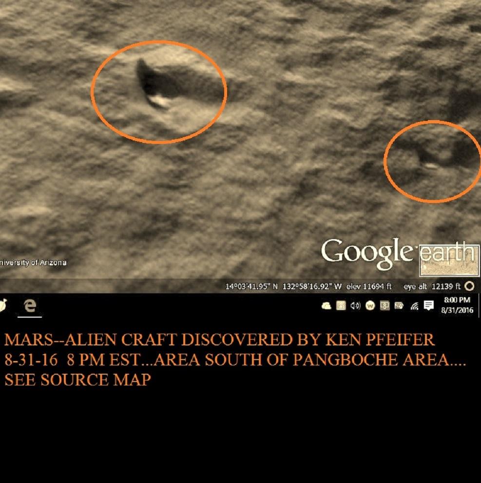 MARS--STRANGE CRAFT DISCOVERED BY KEN PFEIFER 8-31-16   8.00 PM EST.....